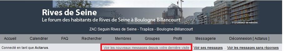 Messages sur le forum Clipbo15