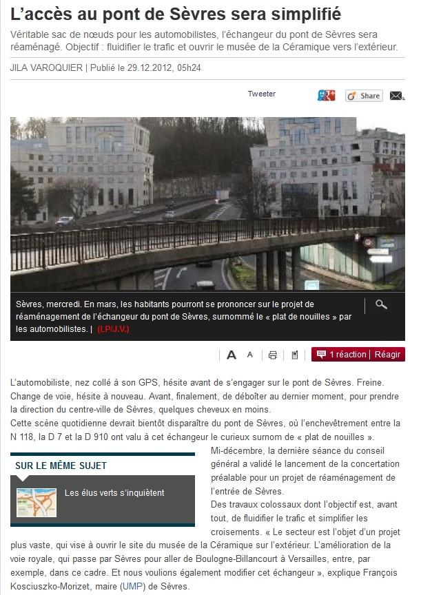 Echangeur du Pont de Sèvres côté Sèvres Clipbo24