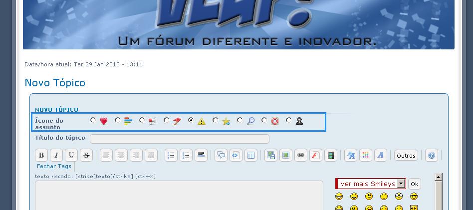 Ocultar icones do assunto Help11