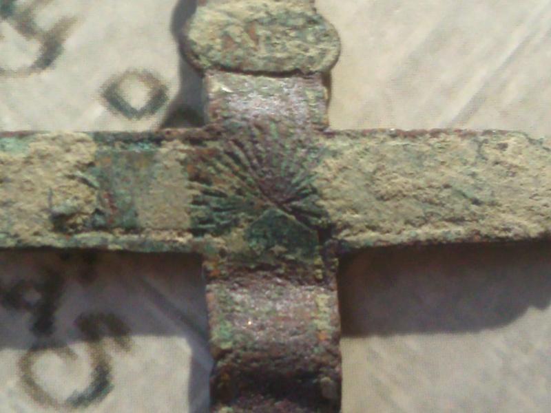 """Crucifix """"Souvenir de Mission"""" - début XIXème  Photo048"""