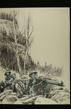 8th Bn Sherwood Foresters - Last stand at Tretten  Vardek11