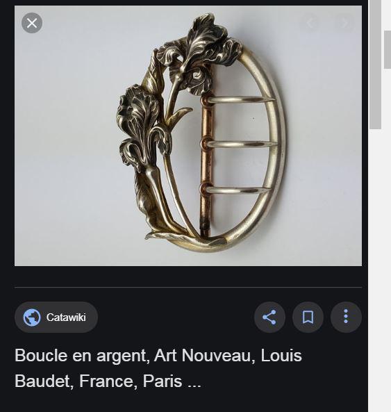 BOUCLES CEINTURE ANCIENNES ART NOUVEAU BAUDET Baudet11