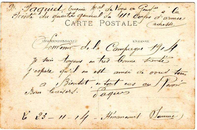 Eugène PAQUIET  Maréchal des logis de gendarmerie 1914 Gendar11