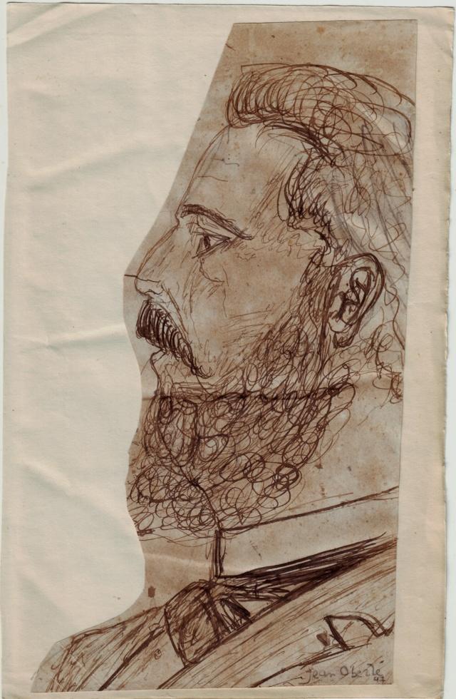 Un dessin à l'encre attribué à Jean OBERLE Oberle11