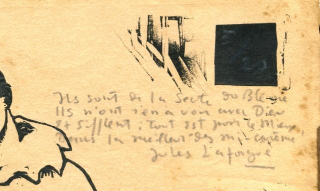 Une gravure sur bois ? avec un poème et une signature! Pierro11
