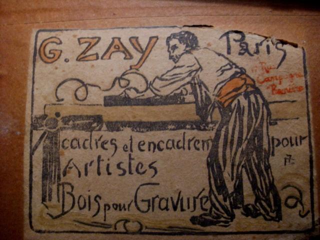 Une gravure sur bois ? avec un poème et une signature! Pierro13