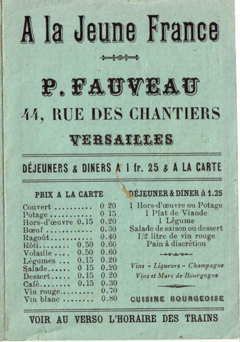 A LA JEUNE FRANCE Versailles Versai10