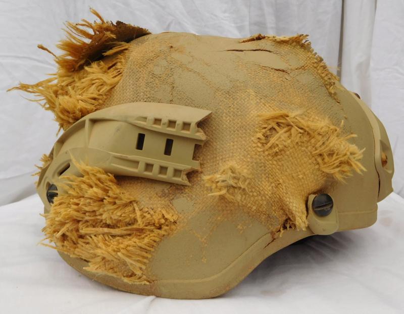 Tan ISOF helmet relic from Mosul battle Dscn1615