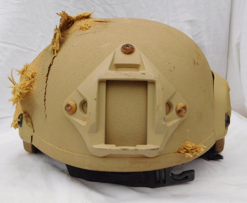 Tan ISOF helmet relic from Mosul battle Dscn1616