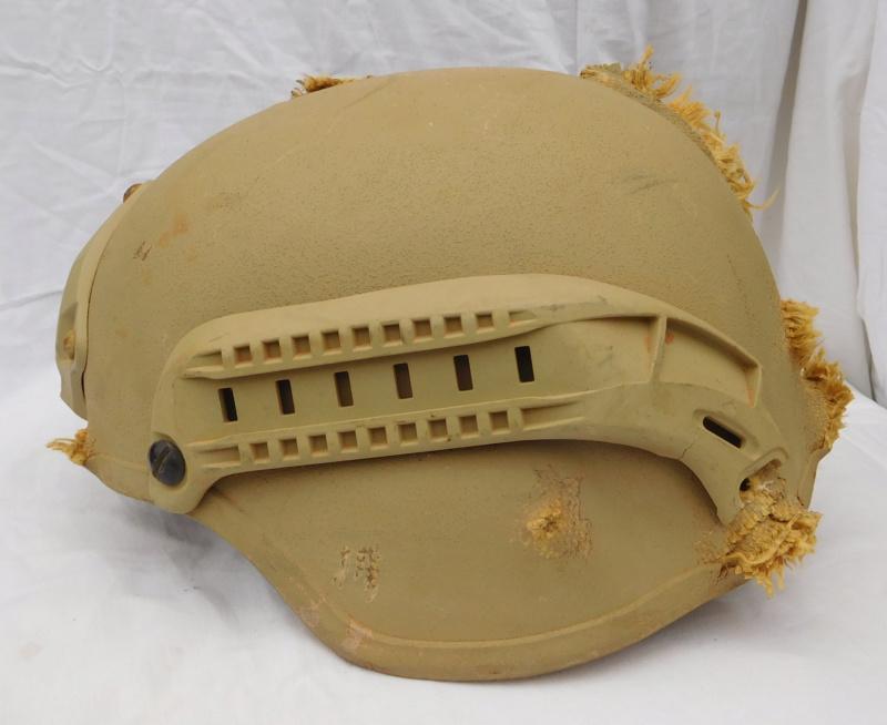 Tan ISOF helmet relic from Mosul battle Dscn1618