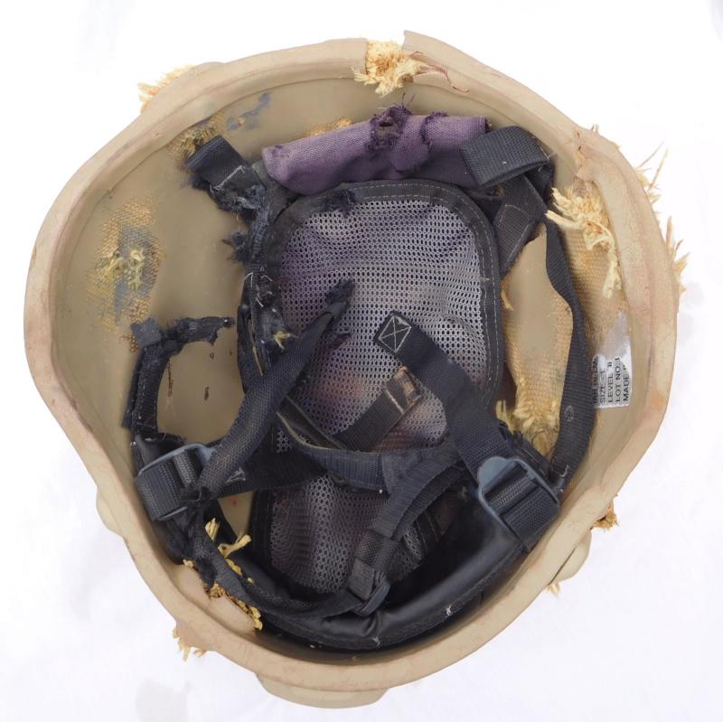 Tan ISOF helmet relic from Mosul battle Dscn1620