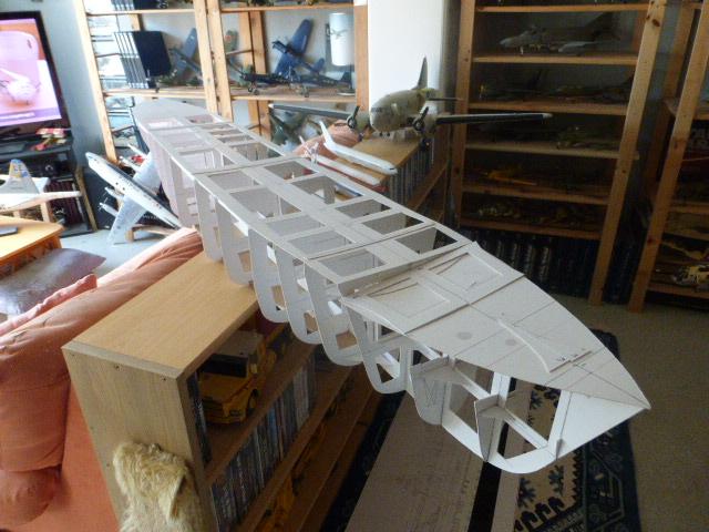 Paquebot MS Astoria au /100 ème modèle en bois et carton  P1020654