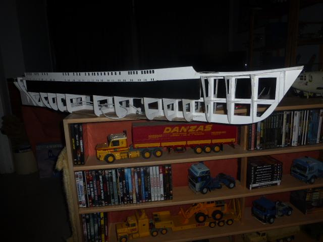 Paquebot MS Astoria au /100 ème modèle en bois et carton  P1020665
