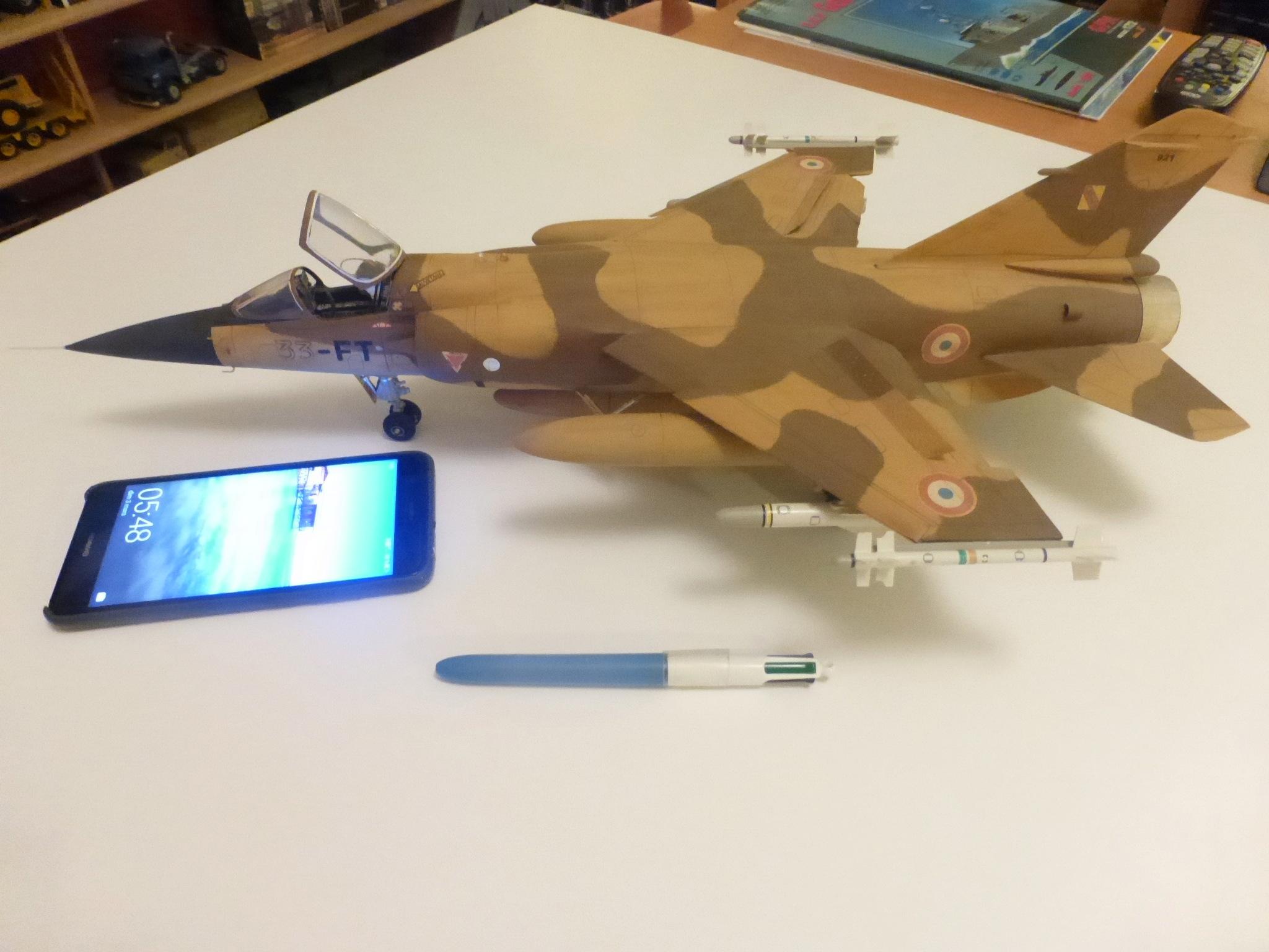 Mirage F1 - C en bois et carton 1/3 P1020962