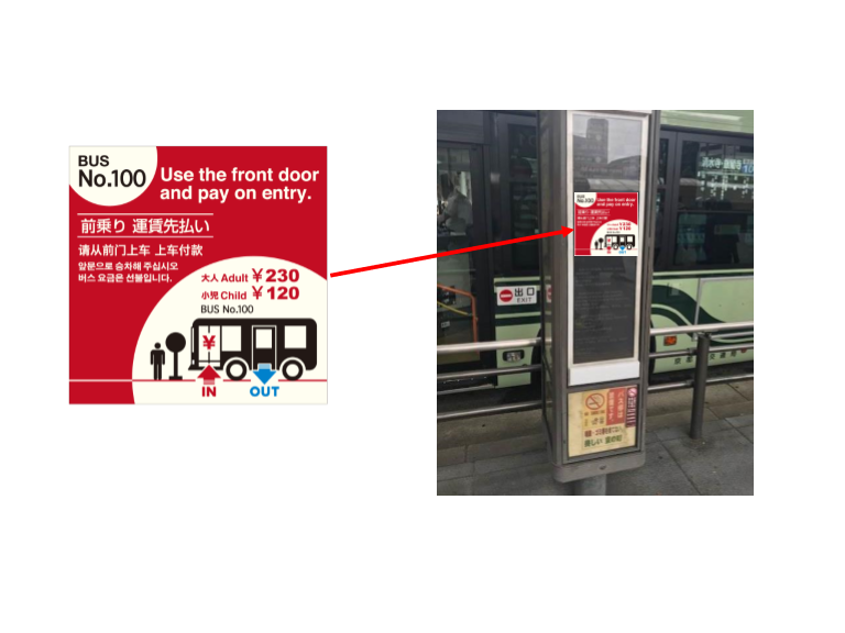 Kyoto City Bus | Les trois engagements à l'attention de la population locale et des touristes Qvdvd10