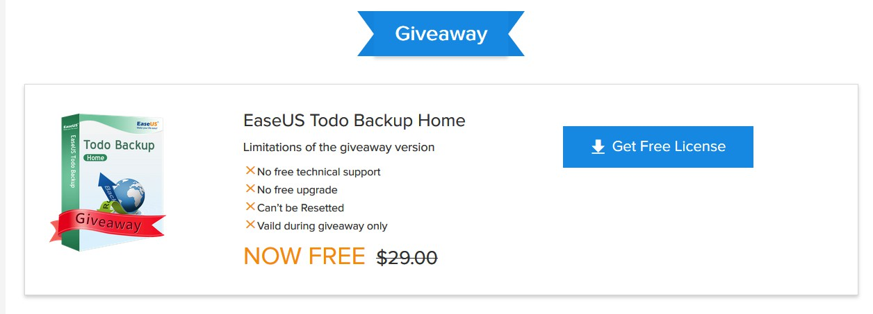 [Giveaway] EaseUS Todo Backup Home - (Λήγει 19.9.18) 128