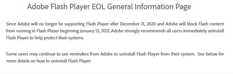 Η Adobe σκοτώνει επίσημα το Flash Player  1337