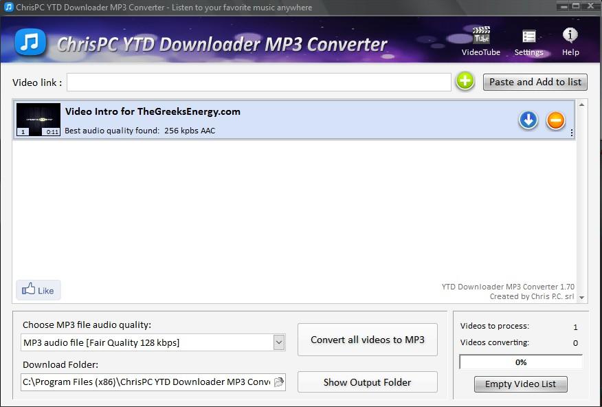 ChrisPC YTD Downloader MP3 Converter 3.55 157