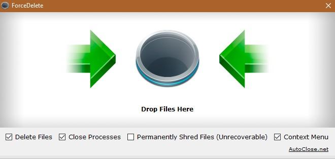 ForceDelete 1.0 - Διαγράψτε αρχεία και φακέλους που δεν μπορούν να διαγραφούν 2157