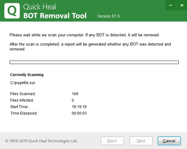 Quick Heal Bot Removal Tool 61.0 237
