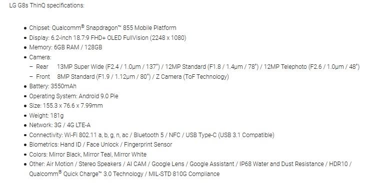 Το LG G8s ThinQ έχει λανσαριστεί παγκοσμίως  246