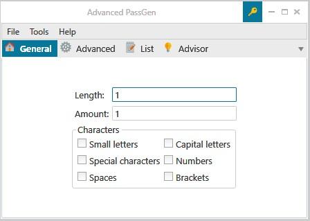 Advanced PassGen 1.7.0.0 - Δημιουργήστε πολύπλοκους κωδικούς πρόσβασης 249