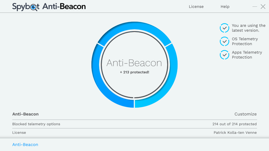 Spybot Anti-Beacon 3.4.8 Build 218  Antibe10