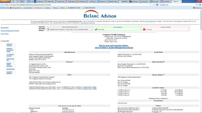 Belarc Advisor 9.7 Belarc10
