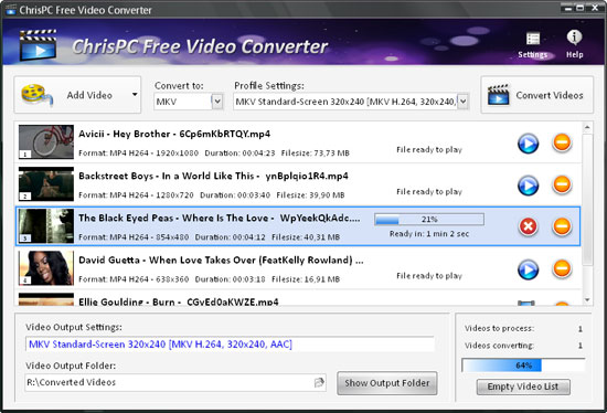 ChrisPC Free Video Converter 5.00 Chrisp10