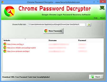 ChromePasswordDecryptor 12.0 - Ανακτήστε τους χαμένους κωδικούς σας από το Google Chrome Chrome11