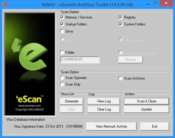 Antivirus/Removal Tools Escan-10