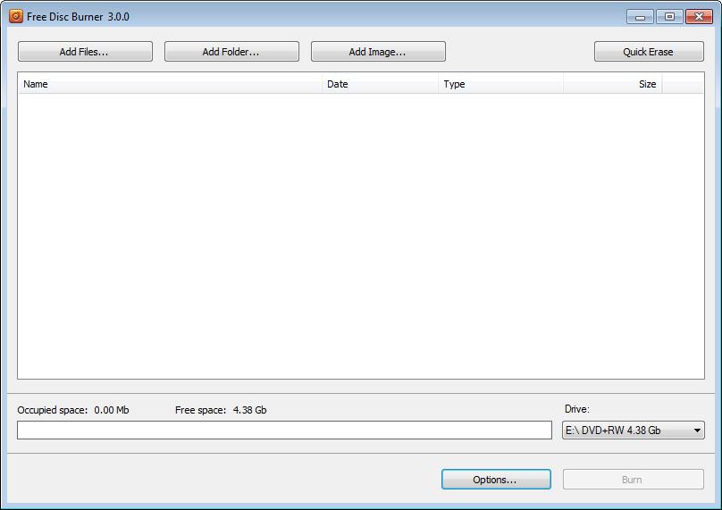Free Disc Burner 3.0.66.823 Freedi10