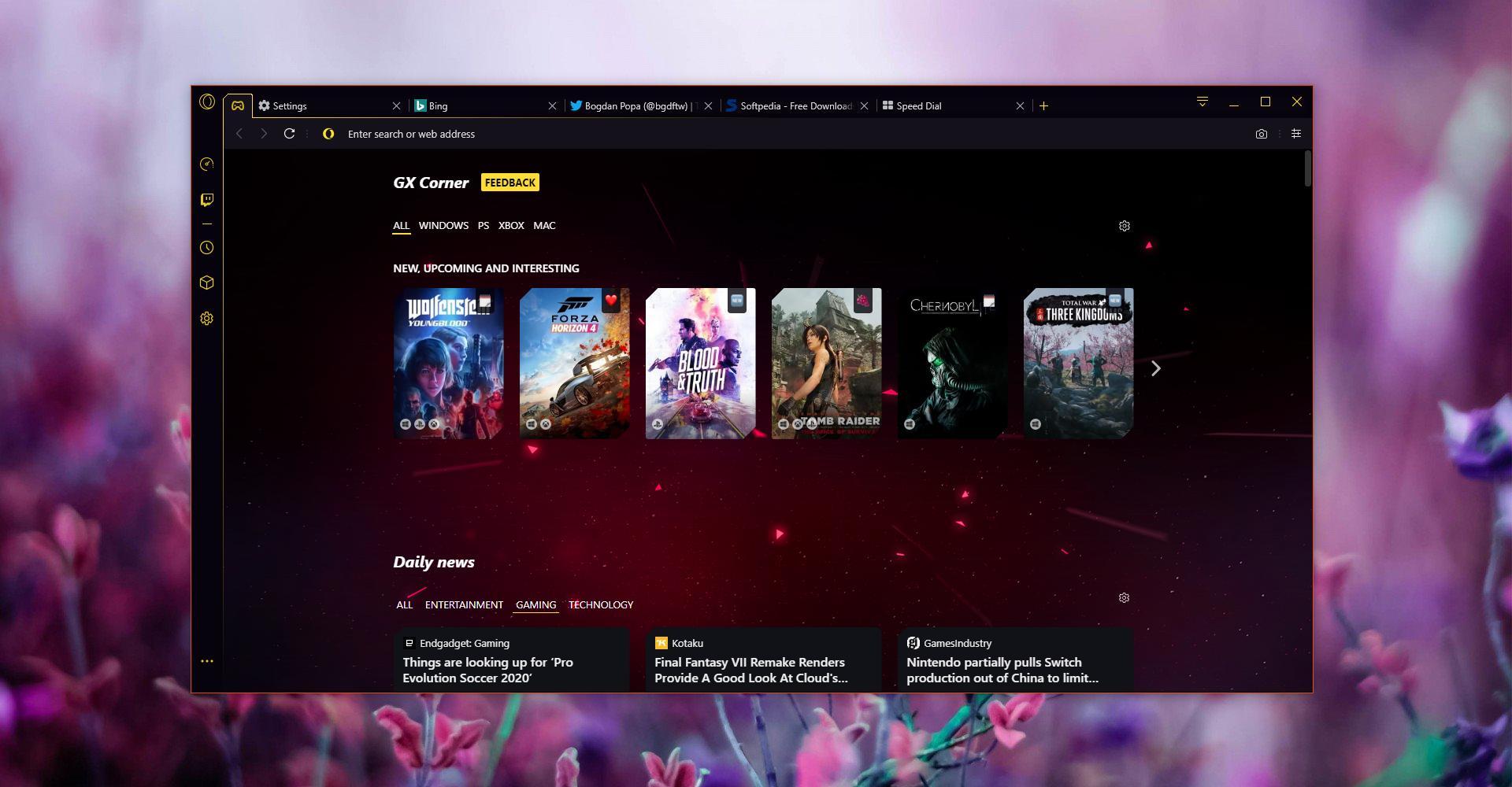 Opera GX: Tο πρώτο πρόγραμμα περιήγησης για gamers στον κόσμο Gettin15