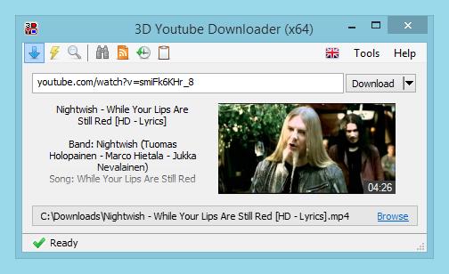 3D Youtube Downloader 1.19.5 - Κατεβάστε με 18 διαφορετικά επίπεδα ποιότητας Main11
