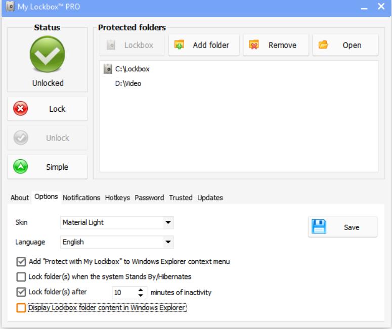 My Lockbox 4.1.3 - Ο ευκολότερος τρόπος για να προστατεύσετε ένα φάκελο Mylock10