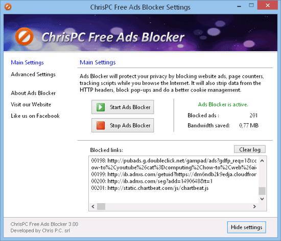 ChrisPC Free Ads Blocker 4.45 - Αποκλείει τις διαφημίσεις σε οποιαδήποτε ιστοσελίδα επισκέπτεστε No_ban10