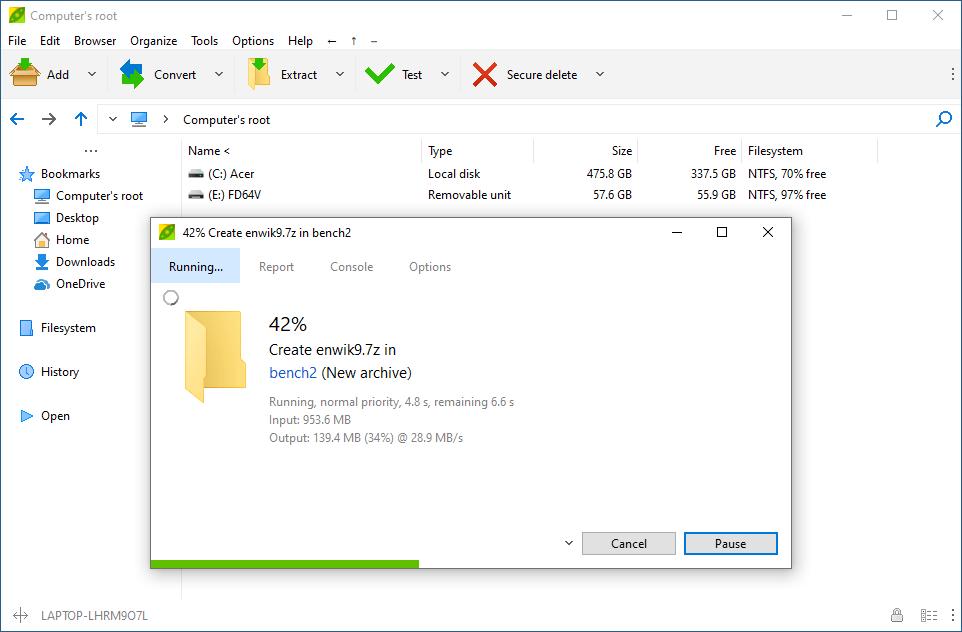 PeaZip 7.7.1 - Αποσυμπιεστής αρχείων Peazip10