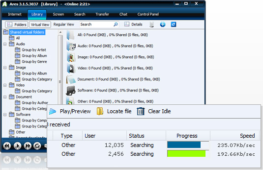 Ares Galaxy 2.5.7  Sample10