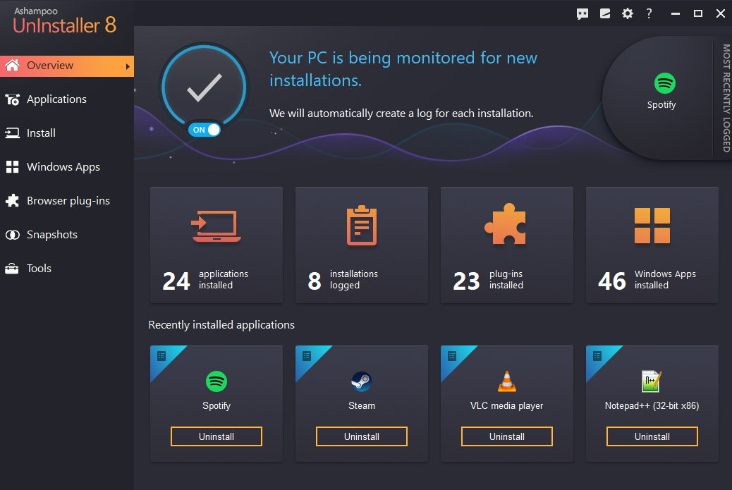 Ashampoo UnInstaller 8 (Review) Scr-as10