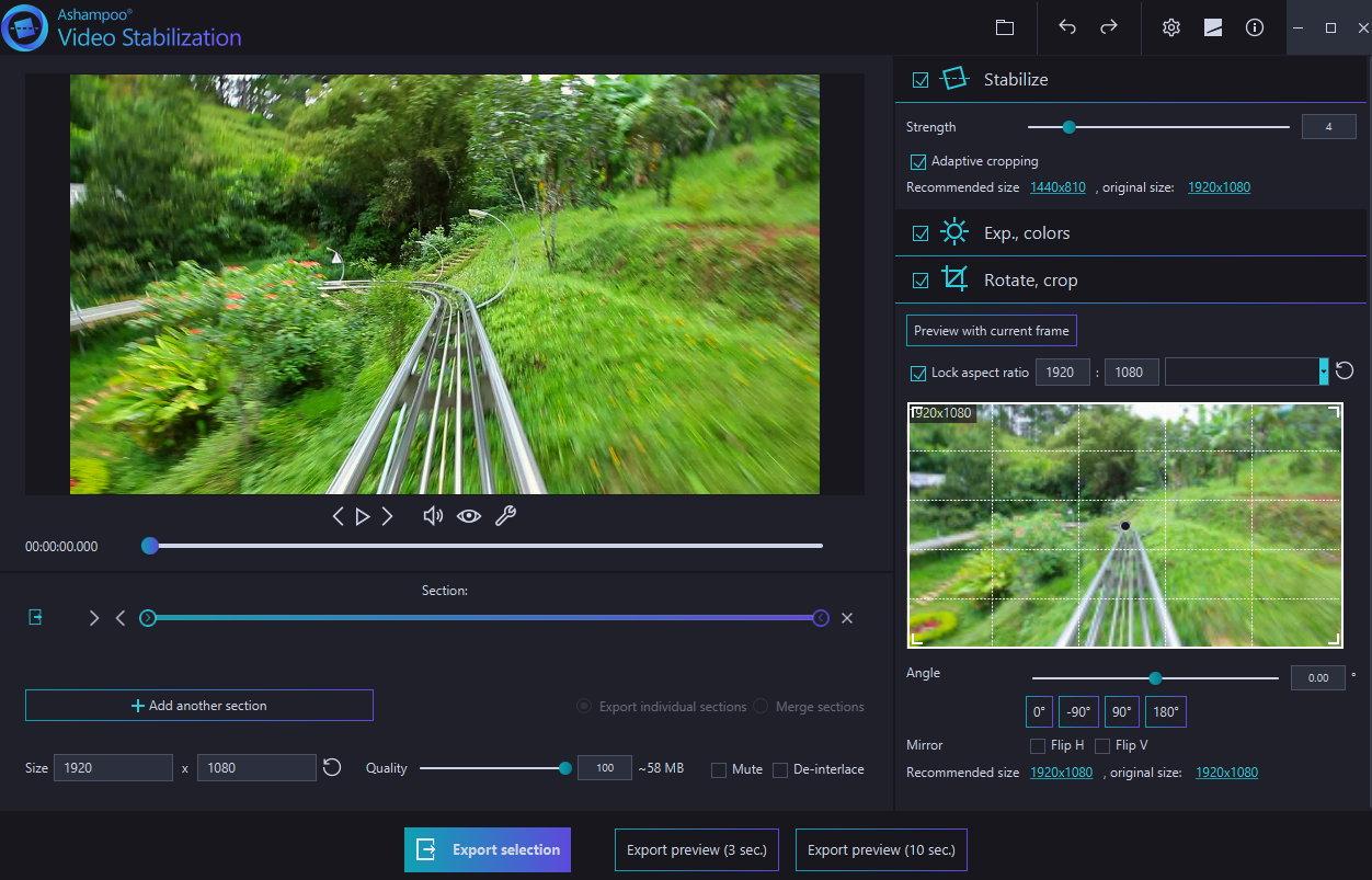 Ashampoo Video Stabilization (Review) Scr-as23