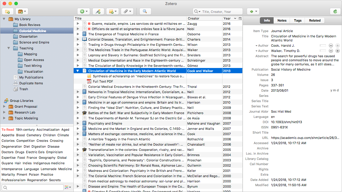 Zotero 5.0.95 Screen12