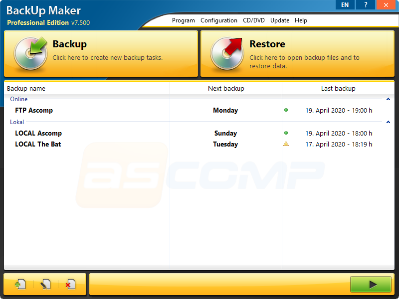 BackUp Maker Standard Edition 7.503 Screen16
