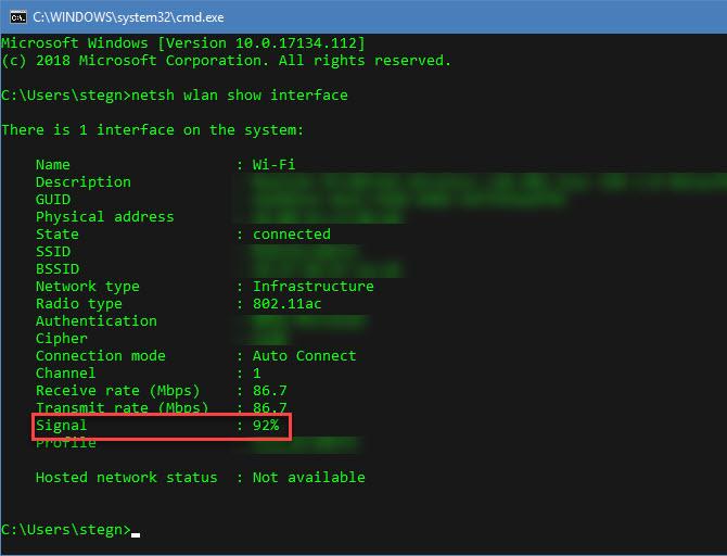 Πώς να δείτε την ακριβή ισχύ της σύνδεσης Wi-Fi στα Windows  Signal10