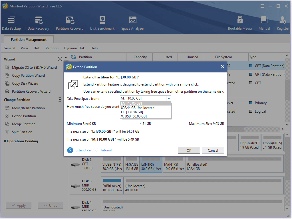 MiniTool Partition Wizard Free 12.5 Thumbn40