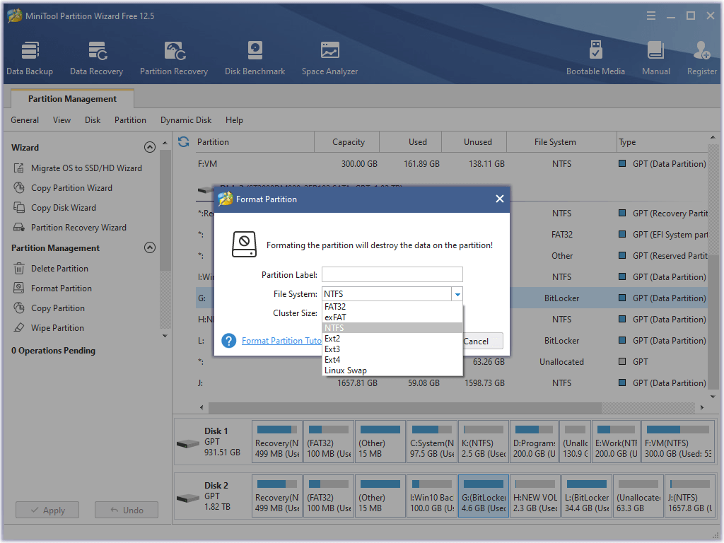 MiniTool Partition Wizard Free 12.5 Thumbn42