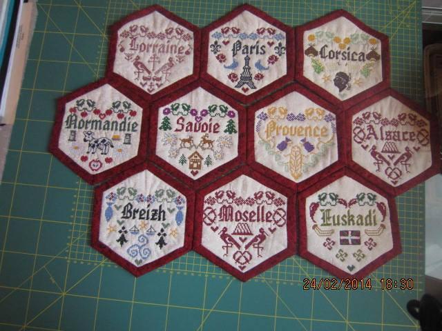 hexagones brodés  10155710