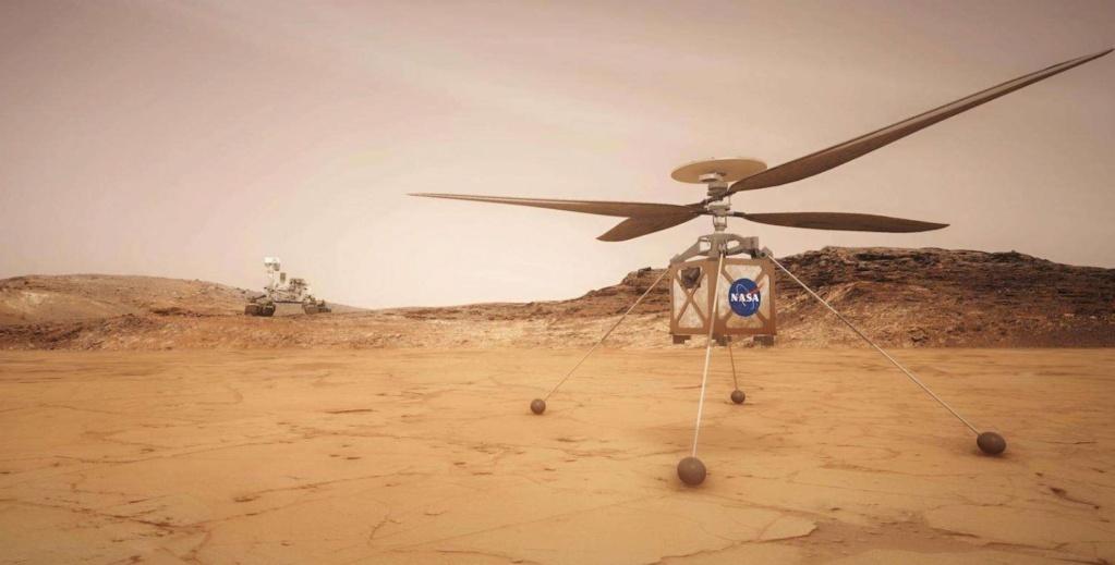 Le Rover Persévérance et son hélicoptère. Hzolic10