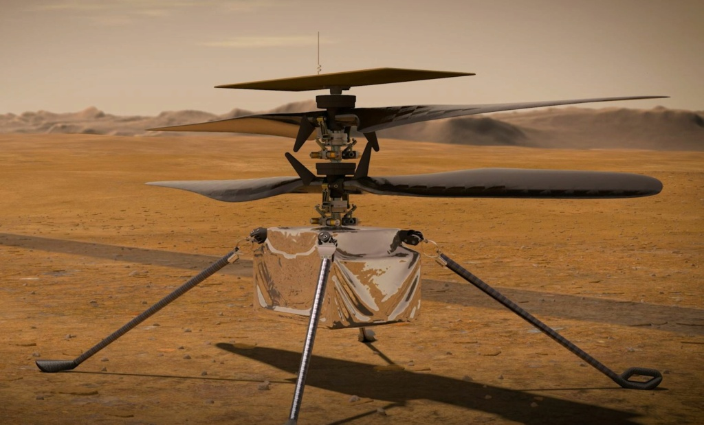 Le Rover Persévérance et son hélicoptère. Hzolic11
