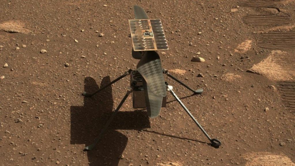 Le Rover Persévérance et son hélicoptère. Ingenu10