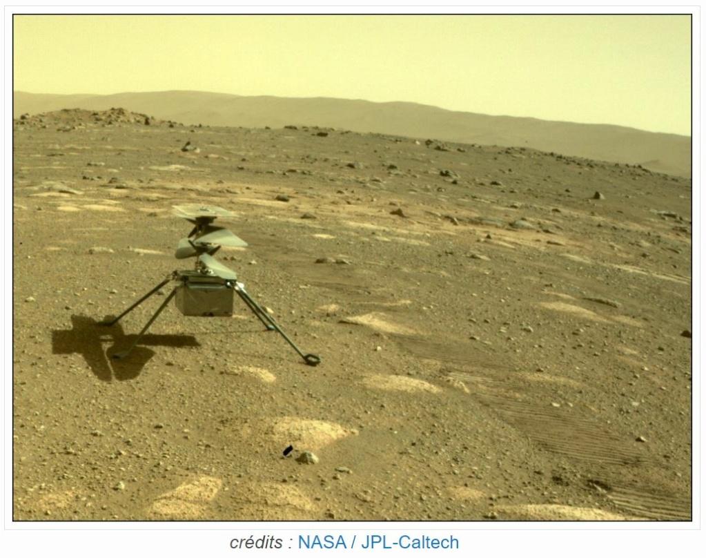 Le Rover Persévérance et son hélicoptère. Perszo11